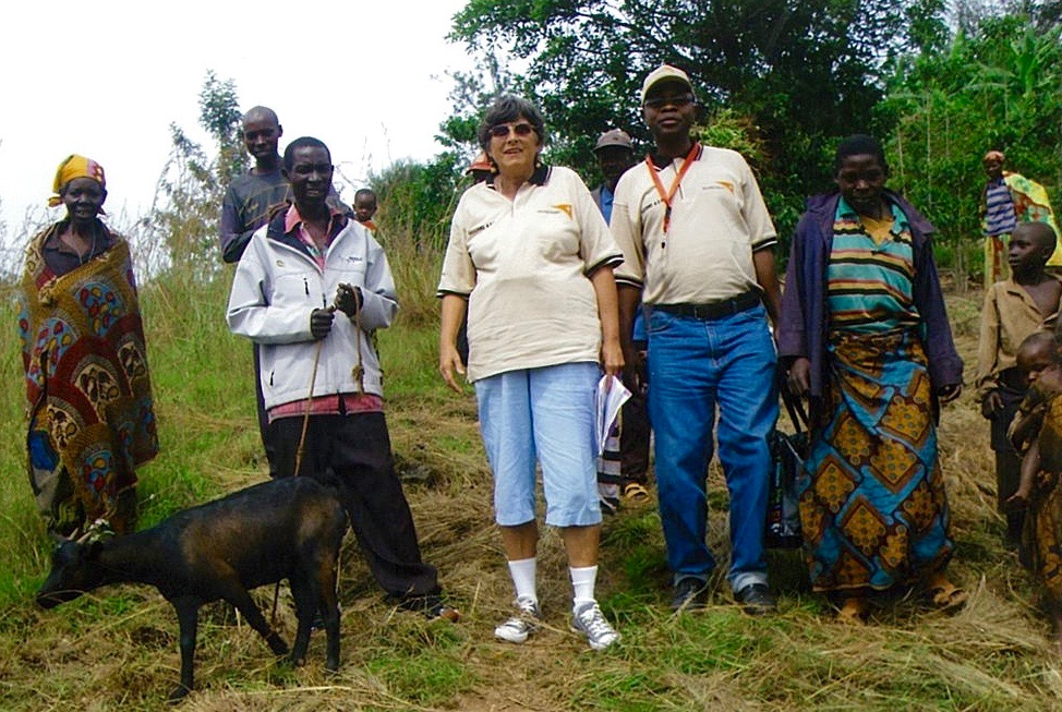 Sharon with Burundi Family who Received a Goat