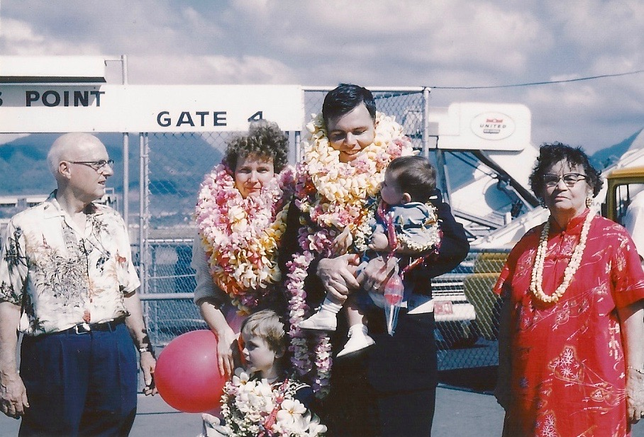 1954, Dr. Harold L. Fickett, Sr., Interim Pastor (Left), And His Wife (Right) Welcoming A New Family At The Airport