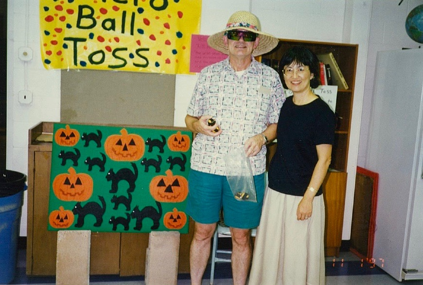 Jim and Jeane Carpenter helping with 1997 Keiki Carnival