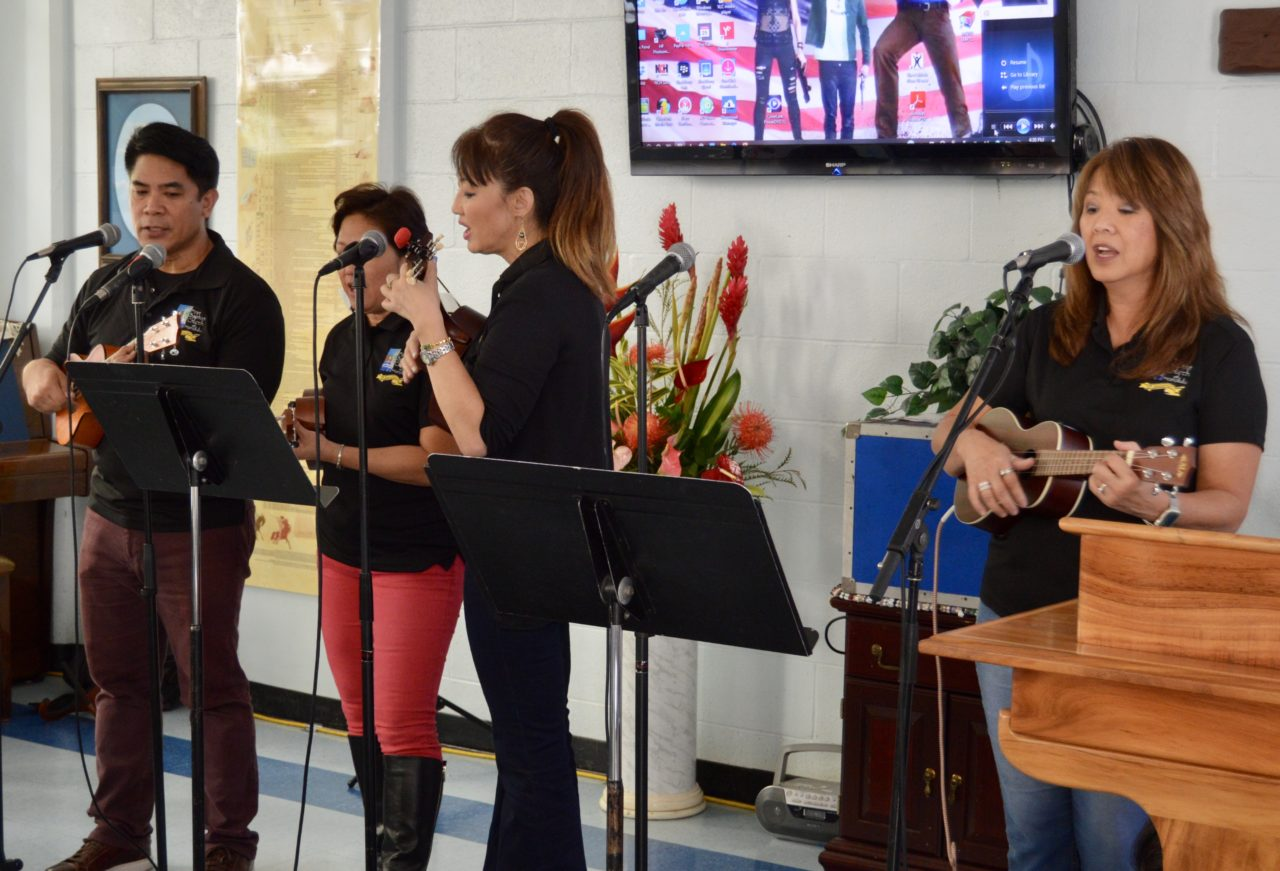 FBCH's Praise Band Leads in Worship