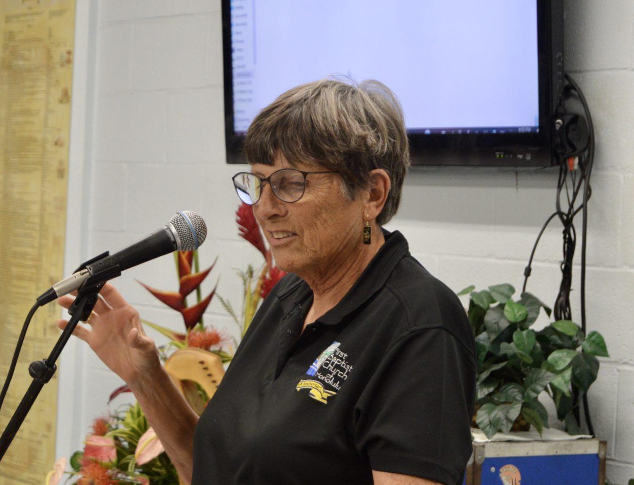 Sharon Dumas, Church Historian and 90th Anniversary Chair