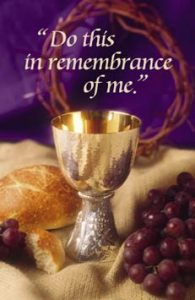 THE LORD'S SUPPER OBSERVED @ Sanctuary,  part of the worship service